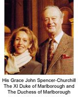 His Grace John Spencer-Churchill The XI Duke of Marlborough and The Duchess of Marlborough