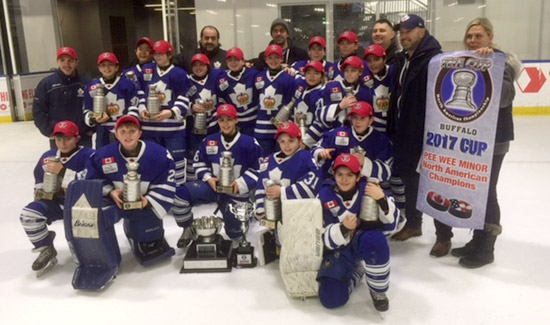 Minor Peewee's Win the Cup in Buffalo