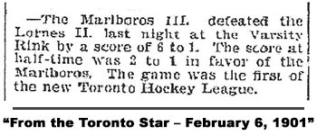 From the Toronto Star – February 6, 1901