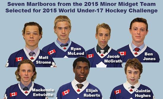 Seven Marlboros from 2015 Minor Midget Team selected for 2015 World Under 17 Hockey Challenge