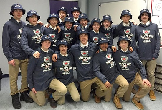 Congratulations Minor Bantam team for clinching the Kraft Cup and finishing 1st in the GTHL regular season.