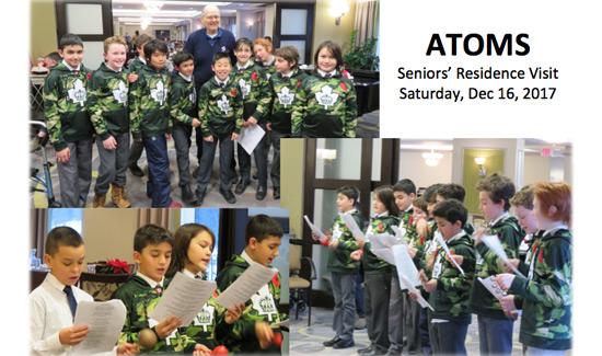 Atoms Visit Chartwell Scarlett Heights Seniors Residence