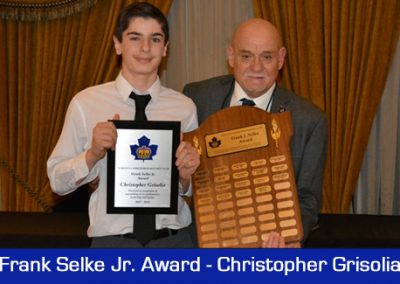 2018 Selke Award-Christopher Grisolia