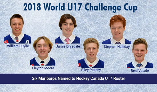 6 Marlboros Named to Hockey Canada rosters For World U 17 Challenge Cup