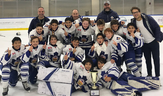 Minor Peewee's repeated as Champions at the Buffalo Jr. Sabres Invitational Champs