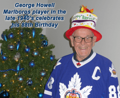George Howell a Marlboros player in the late 1940's celebrates his 88th Birthday