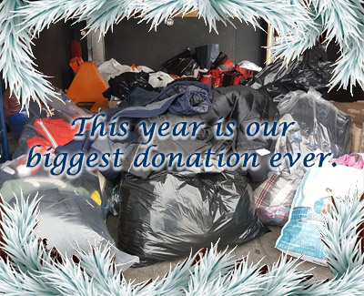This year is our biggest donation ever.