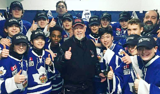 Don Cherry with the Minor Bantam Toronto Marlboros Champions of the Holiday Classic