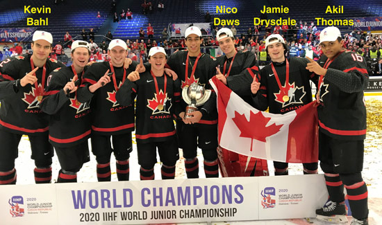 Team Canada World Juniors Win Gold