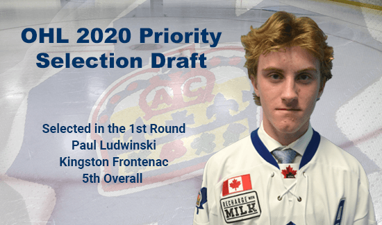 Paul Ludwinski Selected 5th Overall in the 1st Round