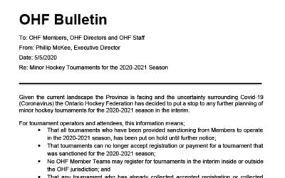 OHF Bulletin – COVID-19