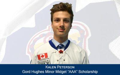 Kalen Peterson – The Gord Hughes Minor Midget AAA Scholarship