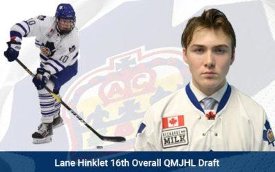 Lane Hinkley 16th Overall QMJHL Draft