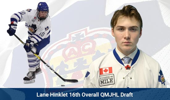 Lane Hinklet 16th Overall QMJHL Draft