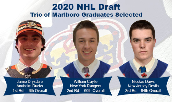 2020 NHL Draft Trio of Marlboro Graduates Selected