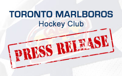 Toronto Marlboros Hockey Club Press Release
