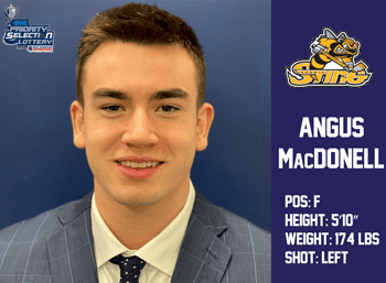 Angus MacDonell 1st Round 13th Overall by Sarnia Sting