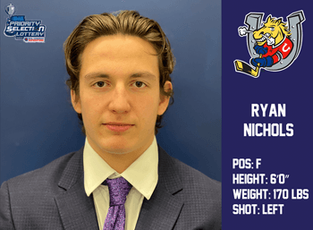 Ryan Nichols 6th Round 100th Overall by Barrie Colts