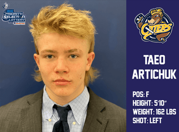 Taeo Artichuk 2nd Round 21st Overall by Erie Otters
