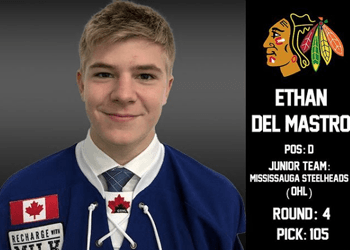 Ethan Del Mastro Drafted 4th Rd., 105th overall by the Chicago Blackhawks