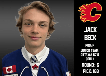 Jack Beck Drafted 6th Rd., 168th overall by the Calgary Flames