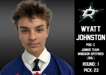 Wyatt Johnston Drafted 1st Rd, 23rd overall to the Dallas Stars
